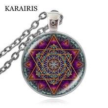 "Karairis ожерелье ""цветок жизни"" Ом чакра цветок кулон"