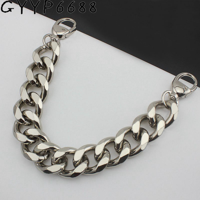 3 colors 22mm thick Aluminum chain Light weight bags strap bag parts DIY handles easy matching Accessory  Handbag Straps Bag