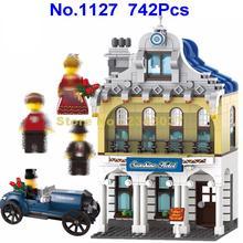 1127 742 шт город солнце отель праздник ИНН античный автомобиль просветить строительный блок 3 фигурки игрушки