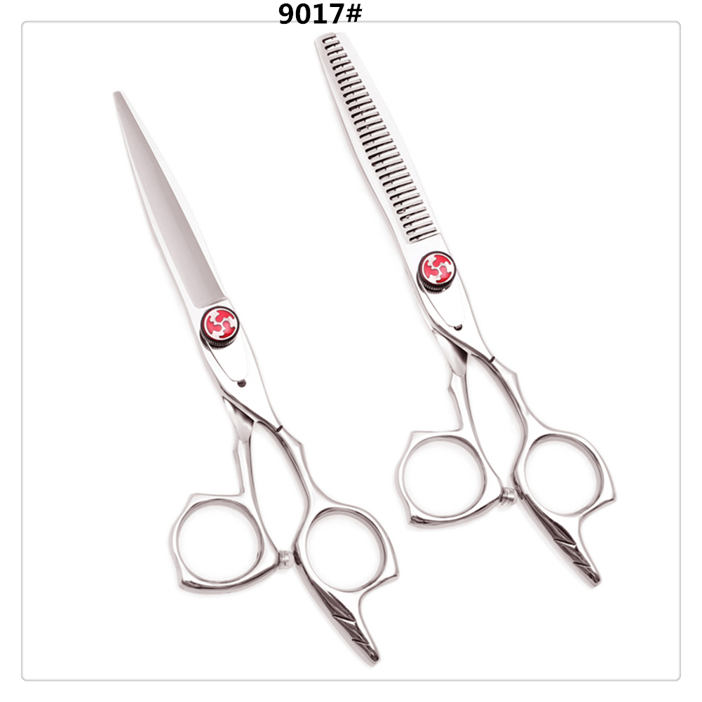 "Hair Scissors 5.5"" AQIABI 440C Hair Cutting Shears Stylist Thinning Shears Professional Hairdressing Scissors New Arrival A9017"