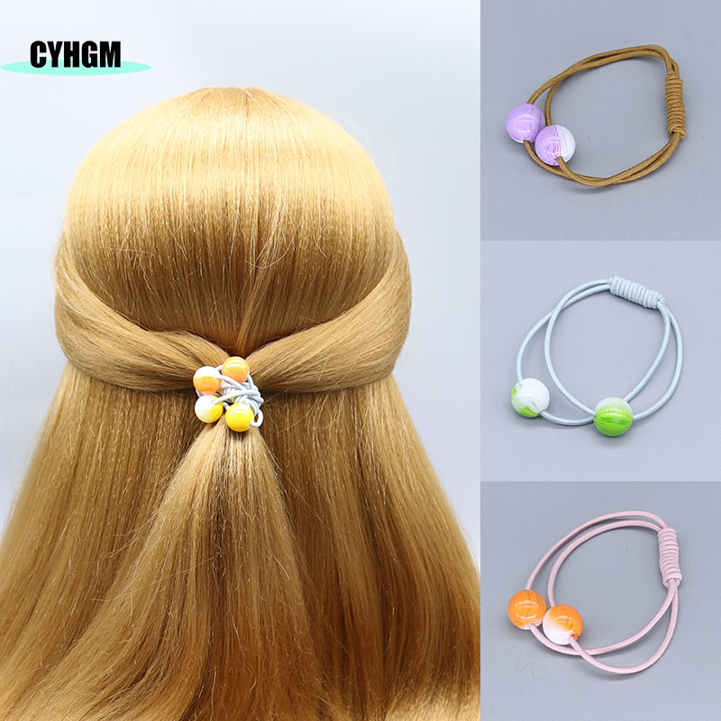 Elastic Hair Bands Girls Kawaii  Hair Ties Decoration Jelly Bow Satynowa Gumka Cheveux Femme Hair Accessories Brand G016
