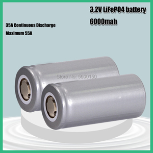 3.2V 32700 32650 6000mAh LiFePO4 Battery 35A 55A High Power Maximum Continuous Discharge battery