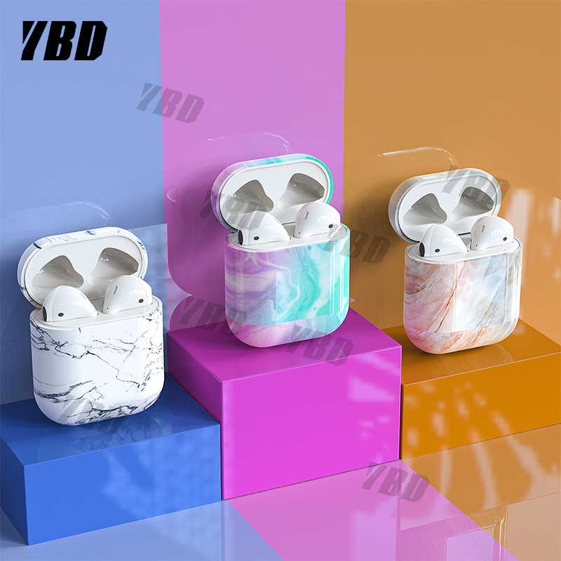 YBD Case For Original Apple Airpods Pro Case Marble Cover For Airpods 2 1 Case Accessories Headphone Air Pods Case Box Coque