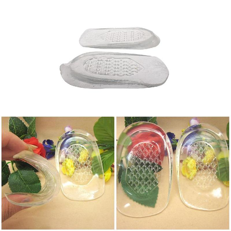 1 Pair Heel Insoles Shoes Massage Cushion Silicone Gel Inserts Pads Massager Hh88