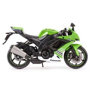Image 4 - Maisto 1:12 kawasaki ninja ZX 10R preto morrer cast veículos colecionáveis hobbies motocicleta modelo brinquedos