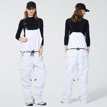 10 к ветрозащитные водонепроницаемые лыжные брюки для мужчин и женщин профессиональные сноубордические брюки теплые дышащие спортивные зимние брюки