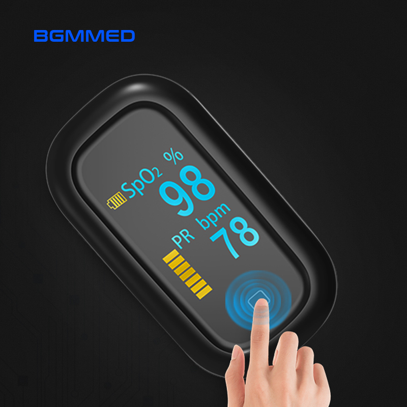 Image 1 - Medical Portable Finger Pulse Oximeter OLED blood oxygen Heart Rate Monitor Touch Oximetro de dedo Saturometro MonitorBlood Pressure   -