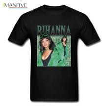 купить Hot sale New 2019 Summer Fashion T Shirts Rihanna T-Shirt men 100% cotton Black pop  Men's Tshirt Tee Size S to 3XL streetwear по цене 874.06 рублей