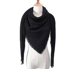 Designer 2019 knitted spring winter women scarf plaid warm cashmere sca