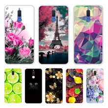 soft TPU Case For Huawei Mate 10 lite Printing Drawing Silicone Phone Cases Cover For