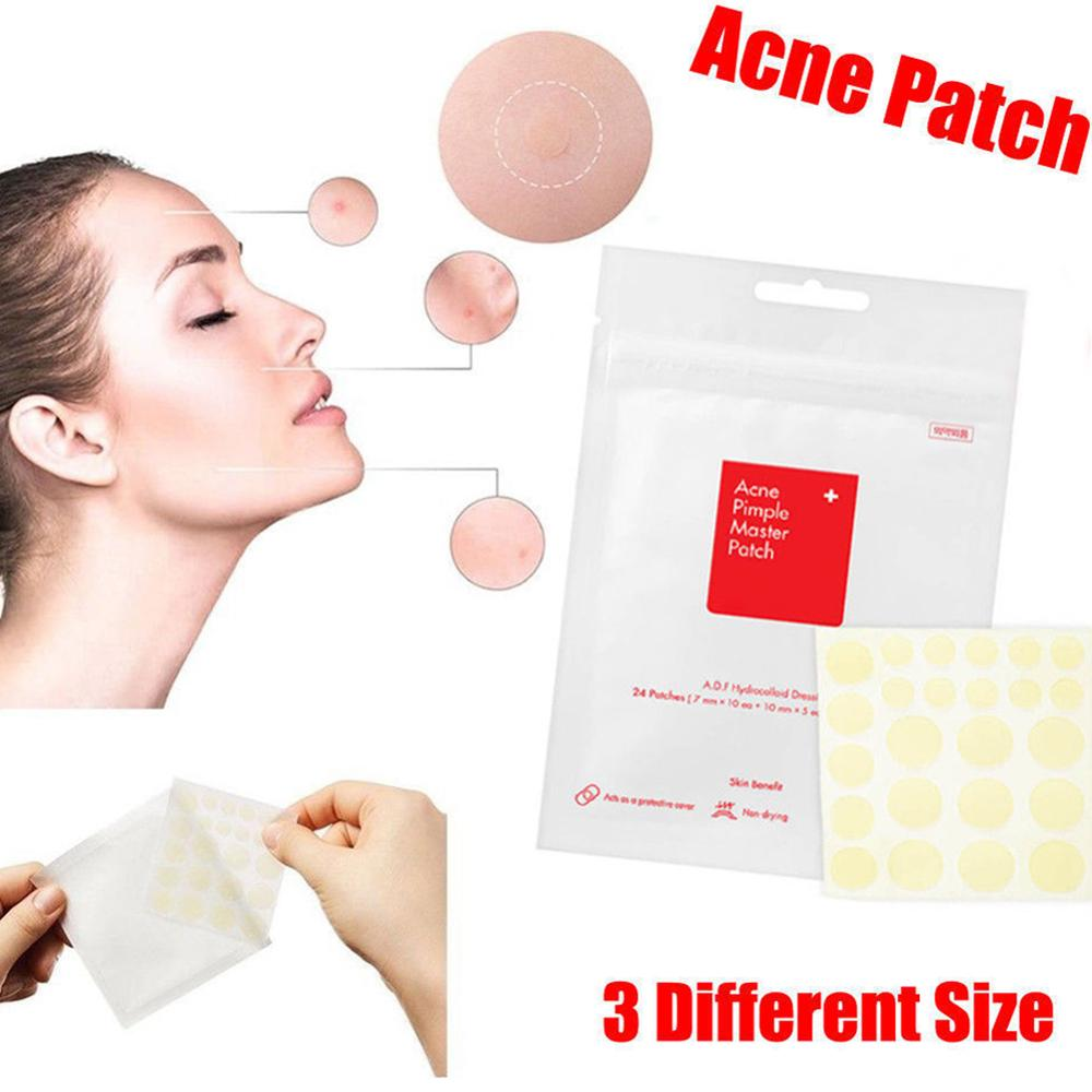 24 Pimple Master Patch Face Spot Scar Care Treatment Stickers Facial Skin Care Blackhead Removal Freckle Patches Acne Mask