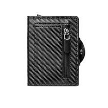 Модный смарт кошелек zovyvol 2020 из углеродного волокна с rfid