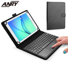 ANRY TY3300 Touchpad Executive Keyboard Case for 9, 10, 10.1, 10.5 Inch Tablets 2-in-1 Bluetooth Wireless Keyboard with Touchpad(China)