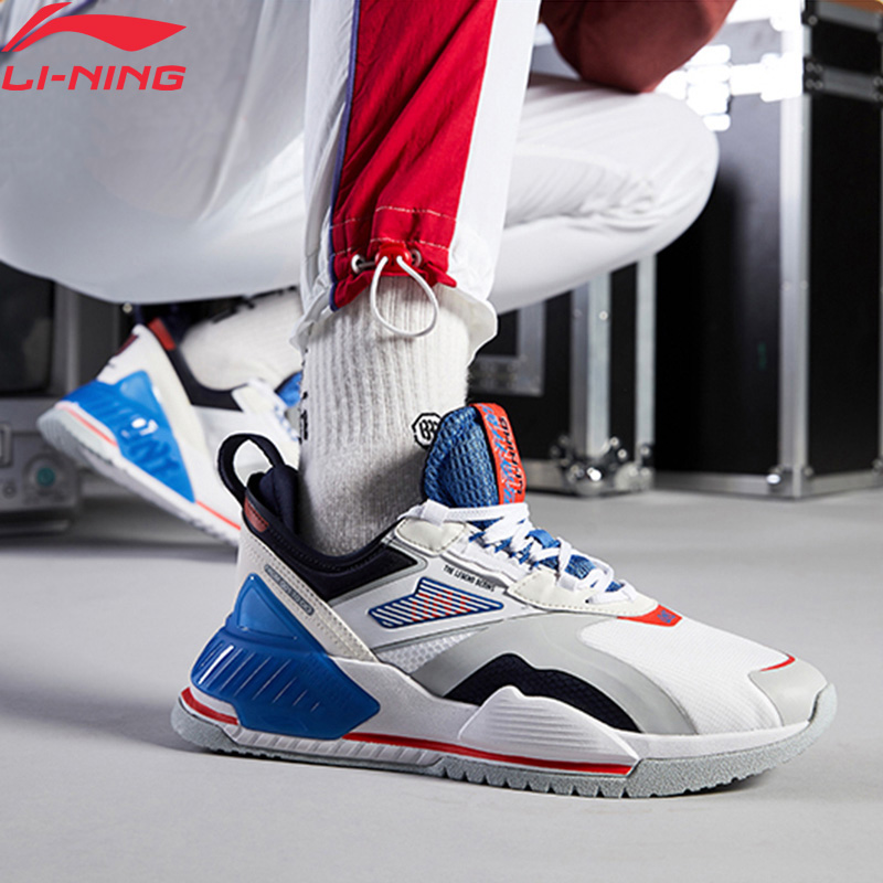 Li-Ning <font><b>Men</b></font> 001 T2000 The Trend Stylish <font><b>Shoes</b></font> TPU Support Anti-Slippery <font><b>LiNing</b></font> li ning Retro Sport <font><b>Shoes</b></font> Sneakers AGLQ019 YXB345 image