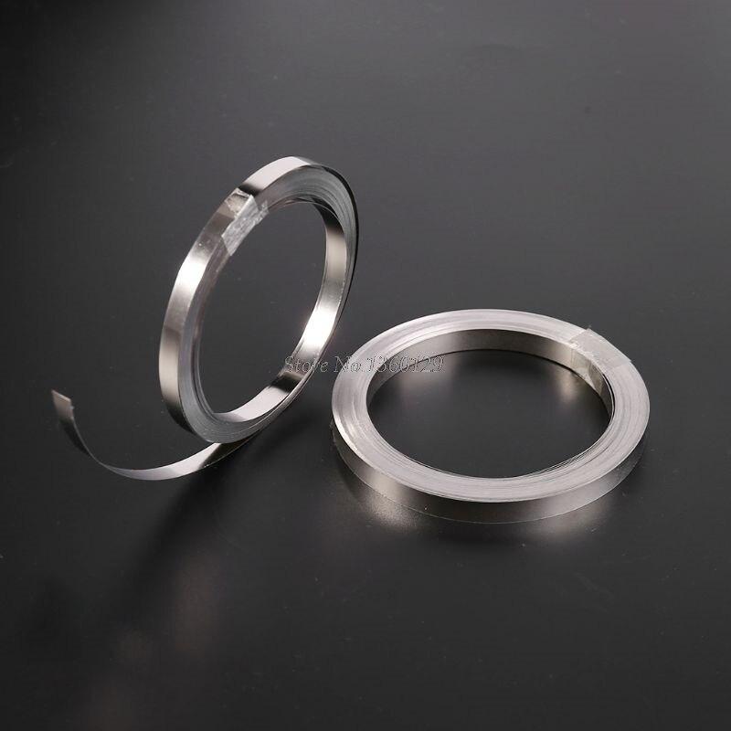10M 5/6MM Nickel Strip Tape For Li 18650 Battery Spot Welding Compatible For Spot Welder Machine 0.1x5mm/0.15x6mm Whosale