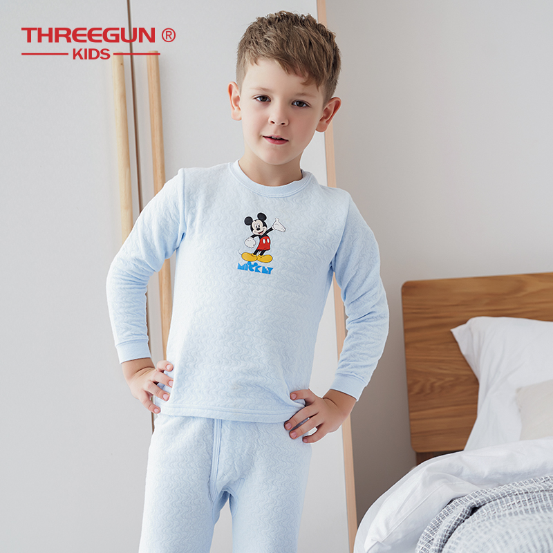 Disney Store Mickey Mouse 2 PC Long Sleeve Tight Fit Cotton Pajama Set Boy 3 4
