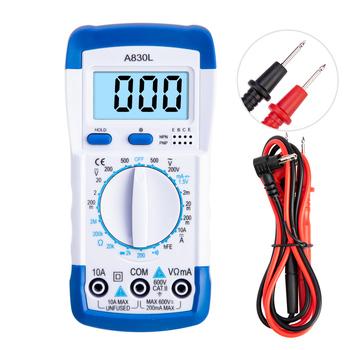 A830L cyfrowy multimetr LCD AC DC dioda napięcia freguecy ręczny Multitester miernik prądu Luminous wyświetlacz brzęczyk funkcje tanie i dobre opinie AFABEITA Elektryczne D200435 200-600V ±1 0 200-2k-20k-200k-2MΩ ±1 0 Cyfrowy wyświetlacz 2m-20m-200m-10A ±1 8 200m-2-20-200-600V ±0 5