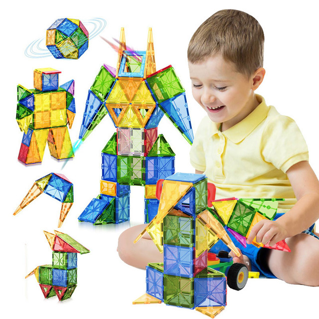 Tile Magnetic Building Blocks Bricks Magnetic Tiles Constructor Technic Games Magnet Toy Model Educational Toys For