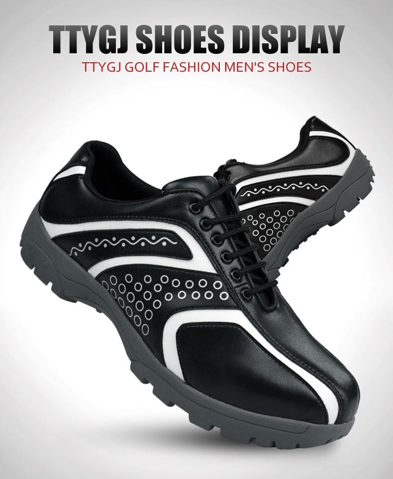 de golfe spikeless antiderrapante respirável esportes sapatos