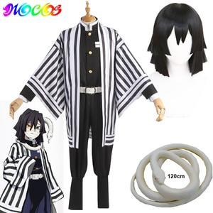 Image 1 - DIOCOS Anime Demon Slayer Kimetsu No Yaiba Iguro Obanai Cosplay Wigs Costumes White Snake Props