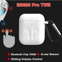 i90000Pro TWS Arie 2 Wireless Earphone 8D Super Bass Bluetooth 5.0 Earphone Sliding Volume Adjustmen
