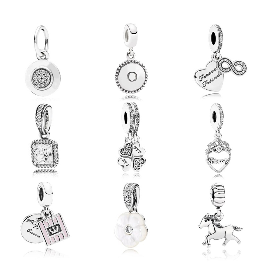 NEW 100% 925 Sterling Silver Classic and love pendant charm bead Collocation Bracelet DIY bracelet Factory wholesale