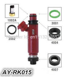 Image 4 - 送料無料燃料噴射装置の修理キットゴムシールキット oem 195500 3030 1955003290 のための AY RK015