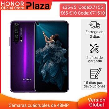 Перейти на Алиэкспресс и купить 120-12 евро Код: ALIMARCAS12 глобальная версия HONOR 20 Pro Google Play смартфон 6,26 '8G 256G Kirin 980 Восьмиядерный 48MP NFC камера