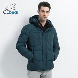 Image 3 - ICEbear 2019 Mens חורף מעילי חזה מעודן כיס פשוט מכפלת מעשי עמיד למים רוכסן באיכות גבוהה Parka