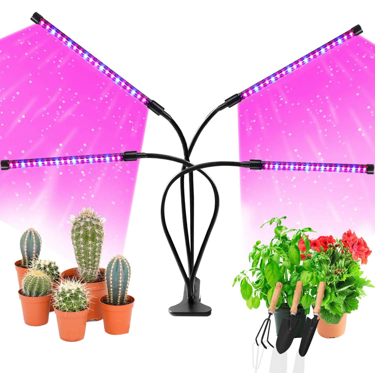 DCOO Grow Light For Indoor Plants 18W 27W 36W Led Grow With Clip For 9 Dimmable Full Spectrum Plant Lights With Timer Phyto Lamp