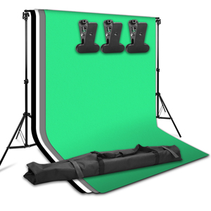 Image 4 - ZUOCHEN fotoğraf stüdyosu Softbox beyaz siyah yeşil ekran zemin işık standı şemsiye aydınlatma kiti
