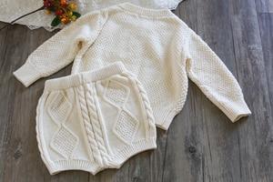 Image 5 - Zestawy ubrań dla dziewczynek czysta dzianina bawełniana kurtka z długim rękawem spodenki dwie sztuki odzież dla dziewczynek zestawy ubrań dla dziewczynek