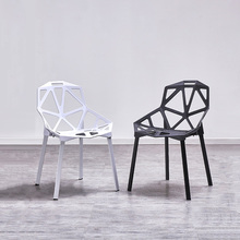 Nordic kreatywny PP drążone z tworzywa sztucznego krzesła jadalnia krzesła do jadalni meble dla restauracji Cafe spotkanie sypialnia jadalnia krzesła