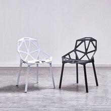 北欧クリエイティブ PP プラスチック中空椅子ダイニング椅子ダイニングルームのレストラン家具カフェ会議寝室ダイニング椅子