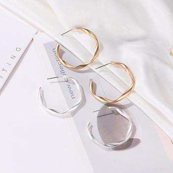 ROX35-36 Fashion Opening C-series Hoop Earrings Generous Minimalist Temperament Wild Korean Style Simple Earrings For Women