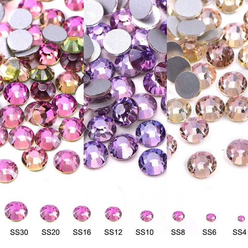 Шелковый Кристалл, блестящие камни для украшения одежды DIY B3916