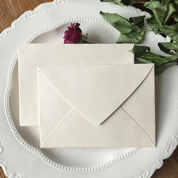 5pcs/pack Texture Envelopes Retro Off-white Envelopes Wallet Envelopes For Flower Shop, Wedding, Invitation