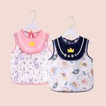 Baby Bibs Lunch-Apron Feeding-Stuff Printed Infant Baby-Girl-Boy Waterproof Sleeveless