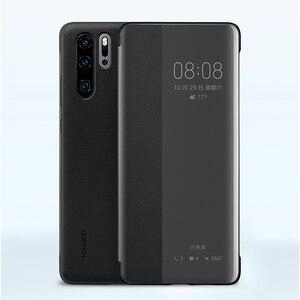 Image 2 - Huawei אותנטי אינטליגנטי מגן Flip מקרה עור כיסוי עבור Huawei P30 Huawei P30 פרו טלפון כיסוי
