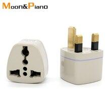 1PC Universal US EU AU IT To UK Plug HK AC Travel Power Charger Adapter Connector plug gray Three pins Socket Convert