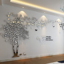 DIY Large Tree Sticker wallpaper Acrylic Mirror Wall Stickers For Living Room TV Background Wall Home Decoration Mural Art Wall