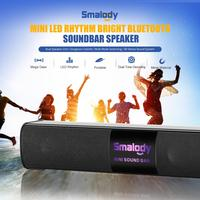 LED Rhythm Bright Bluetooth Speaker Soundbar 10W Dual Speaker Gorgeous Colorful Multi Mode Switching 3D Stereo Speakers AUX TF
