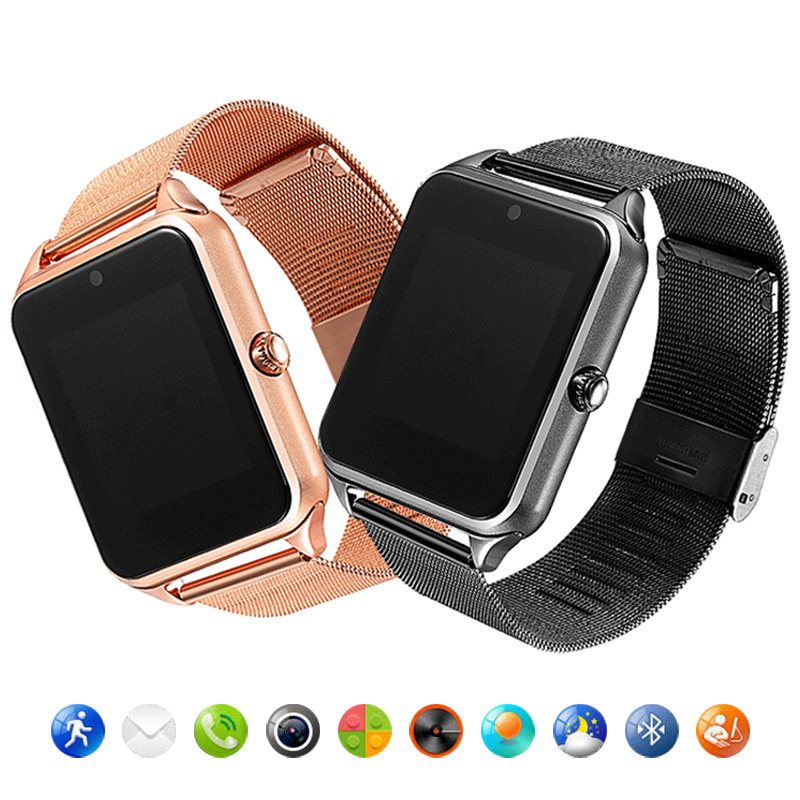 Fashion Men Women Z60 Smart Watch Clock Support Sim Card Slot Push Message Bluetooth Connectivity For Android Phone Smartwatch