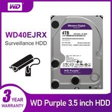 Wd roxo 4tb hdd unidade de disco rígido de vigilância-5400 rpm classe sata 6 gb/s 64mb cache 3.5 Polegada-wd40ejrx câmera ip