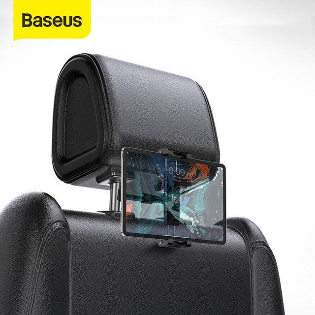 Baseus tylnym siedzeniu samochodu zagłówek uchwyt do ipada 4.7-12.9 cal 360 obrót uniwersalny Tablet PC Auto uchwyt samochodowy telefon stojak