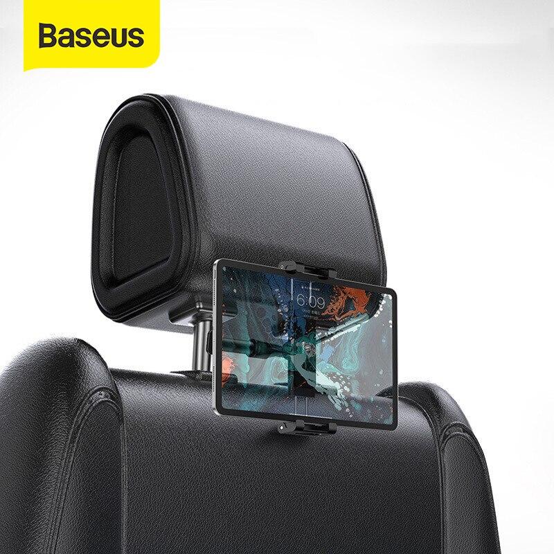 Soporte para reposacabezas Baseus para asiento trasero de coche para iPad 4,7-12,9 pulgadas 360 rotación Universal Tablet PC soporte para teléfono de coche