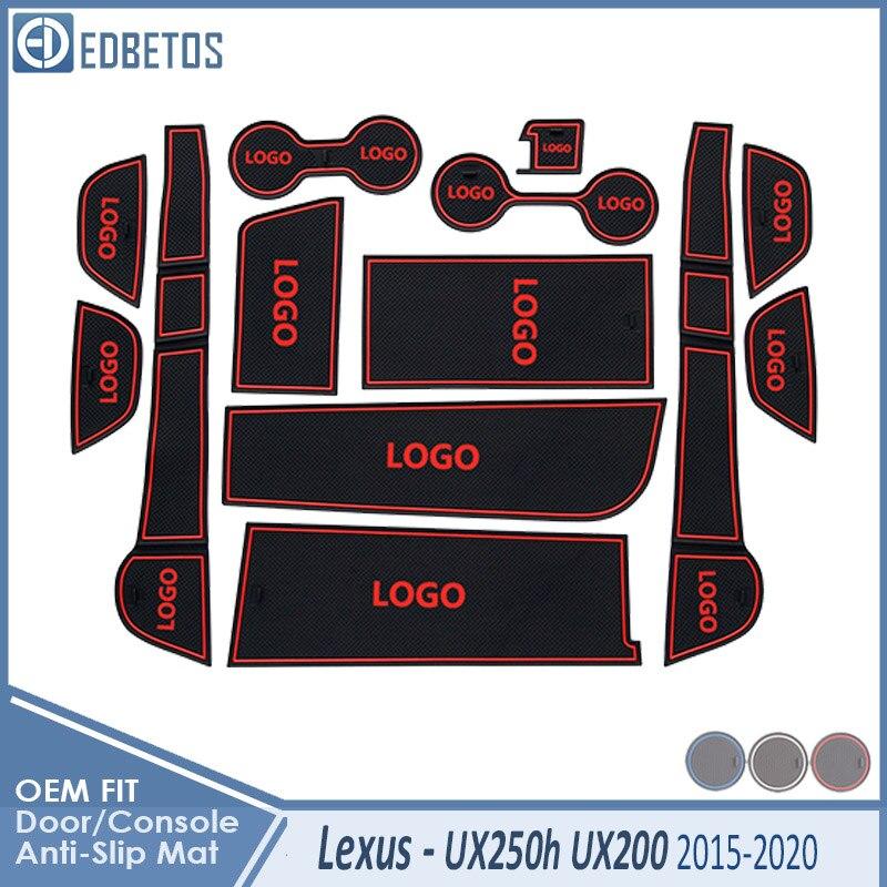 Anti-Slip Mat For Lexus UX UX250h UX200 2019 2020 Car 250 250h 200 UX Accessories Gate Slot Coaster Anti-Dirty Door Groove Mat