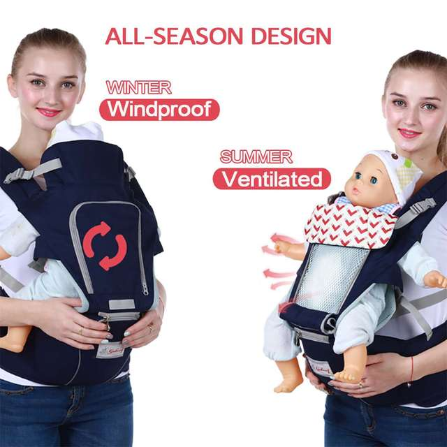 0-36 Months 3 in 1 Baby Sling Baby Carrier Infant Kid Baby Hipseat Sling Front Facing Kangaroo Baby Wrap Carrier For Baby Travel 3
