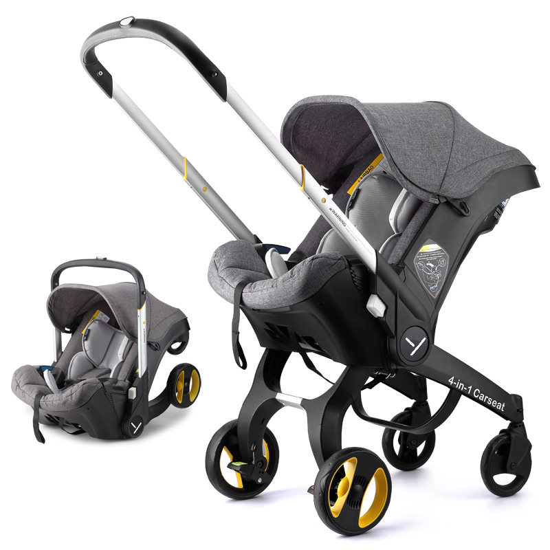 4 In1 Baby Stroller Safety Car Seat Newborn Baby Bassinet Cradle Type Child Safety Seat Baby Carriage Basket Travel System 3 In