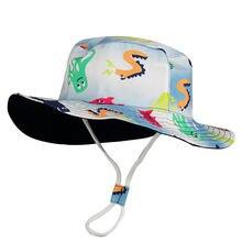 Панама для мальчиков хлопковая шляпа с широкими полями защиты